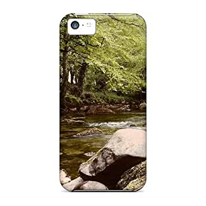 (IIX63704FBWT)durable Protection Cases Covers For Iphone 5c(river Dwyfawr At Llanystumdwy)