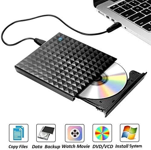 KJRJFD DVDドライブ、超薄型のUSB 3.0CDドライブ、DVD-RWドライブDVD ROMライタバーナー、ラップトップ、デスクトップ高速データ転送勝利7/8 / 10SS