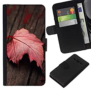 NEECELL GIFT forCITY // Billetera de cuero Caso Cubierta de protección Carcasa / Leather Wallet Case for Samsung Galaxy A3 // Hoja roja