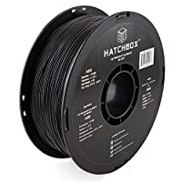 HATCHBOX ABS 3D Printer Filament, Dimensional Accuracy +/- 0.03 mm, 1 kg Spool, 1.75 mm, Black from HATCHBOX