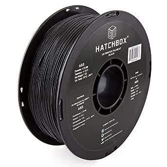 HATCHBOX ABS 3D Printer Filament, Dimensional Accuracy +/- 0.03 mm, 1 kg Spool, 1.75 mm, Black