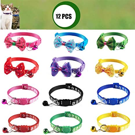 Free Shipping USA Made Rescue Print Safe Cat Adjustable Breakaway Cat Collar