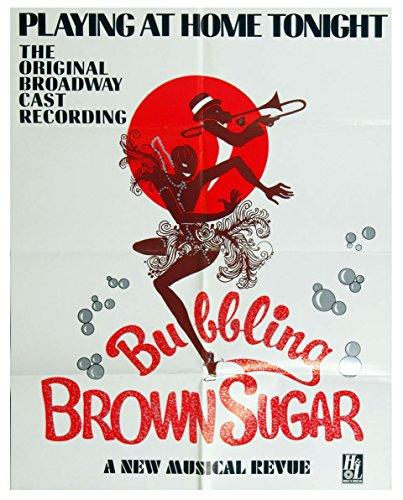 Bubbling Brown Sugar Broadway Musical Poster 1976 New Album Promo 21 x 27