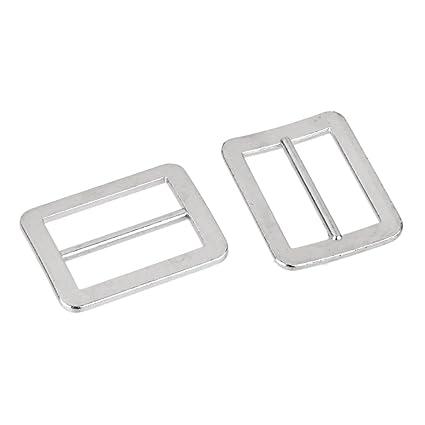 Generic – 10pcs hebilla rectángulo Tri-Glide Para tirantes sujetador vestido 25 x 18 mm