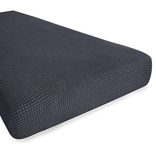 Hokway Couch Cushion Slipcovers Sofa Cushion Covers Jacquard Stretch Cushion Protectors(Gray, Loveseat Cushion) (Bench Seat Cushions Rv)