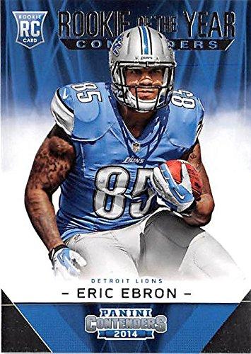 Eric Ebron football card (Detroit Lions) 2014 Contenders #ROY20
