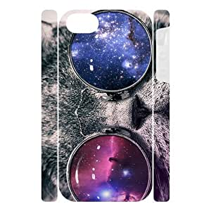 Canting_Good Galaxy Cat Custom Dual-Protective Case Skin for IPhone 5 3D (New) by lolosakes