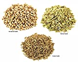 Jalpur Millers Spice Combo Pack - Coriander Seeds 500g - Cumin Seeds 500g - Fennel Seeds 500g (3 Pack)