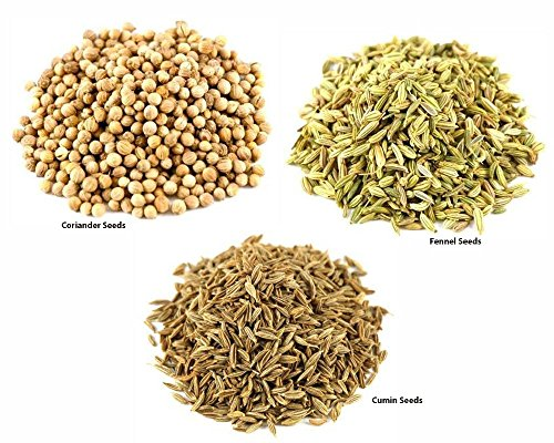 Jalpur Millers Spice Combo Pack - Coriander Seeds 500g - Cumin Seeds 500g - Fennel Seeds 500g (3 Pack) by Jalpur