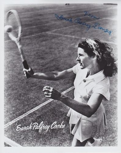 Sarah Palfrey Cooke - Sarah Palfrey Danzig Signed - Autographed Tennis 8x10 inch Photo - Deceased 1996 - Guaranteed to pass BAS - Beckett Authentication