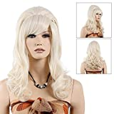 STfantasy 80s Married Housewife Wig for Women Lolita Long Curly Wavy Synthetic Hair Cosplay Costume Beehive Party Wig