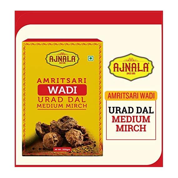 AJNALA Amritsari Urad Dal Medium Mirch Wadi, 200 gm Wadiyan