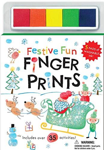 Festive Fun Finger Prints (Picture Perfect Finger Prints) (Christmas Crafts Usborne)