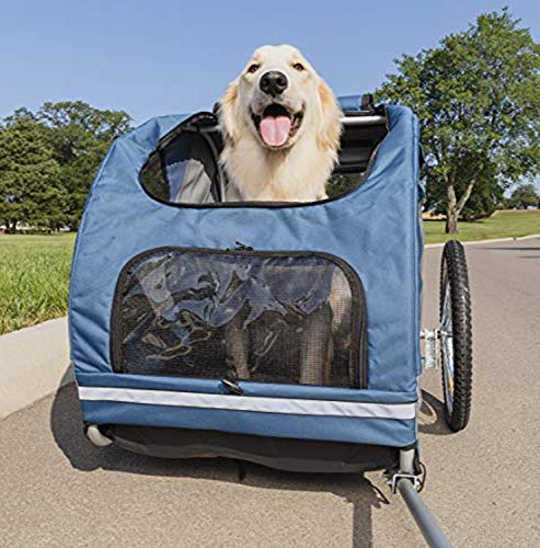 PetSafe Happy Ride Steel Dog Bike Trailer – Durable Frame – Easy to Connect and Disconnect to Bicycles – Includes Three…