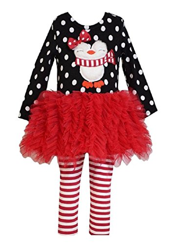 Penguin Flare Skirt (Bonnie Baby Baby-Girls Penguin Appliqued Tutu Skirt Legging Set)
