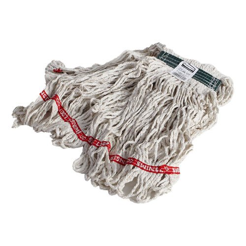 Rubbermaid C112WHI Swinger Loop Wet Mop Heads, Cotton/synthetic, White, Medium, -