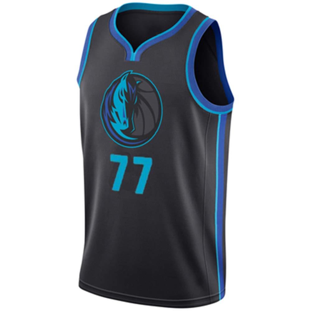 bleu(c) M Pour des hommes   77 Lone Ranger Jersey Pas Cher Throwback Basketball Maillot DONCIC équipe Rétro Surpiqué Chemises Panier Sport Jerseys