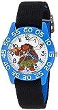 Disney Boy's 'Moana' Quartz Plastic and Nylon Casual Watch, Color:Black (Model: WDS000040)