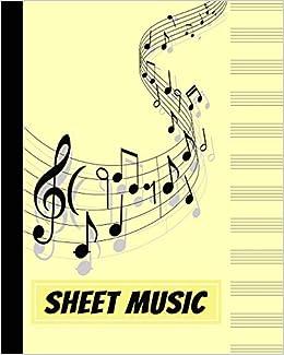 Amazon com: Sheet Music: Blank Music Manuscript Notebook