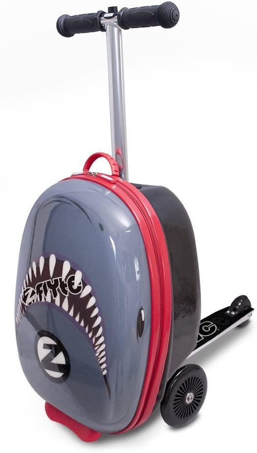 """ZincFlyte Kid's Luggage Scooter 18"""" - Snapper The Shark, one Size, Grey"""
