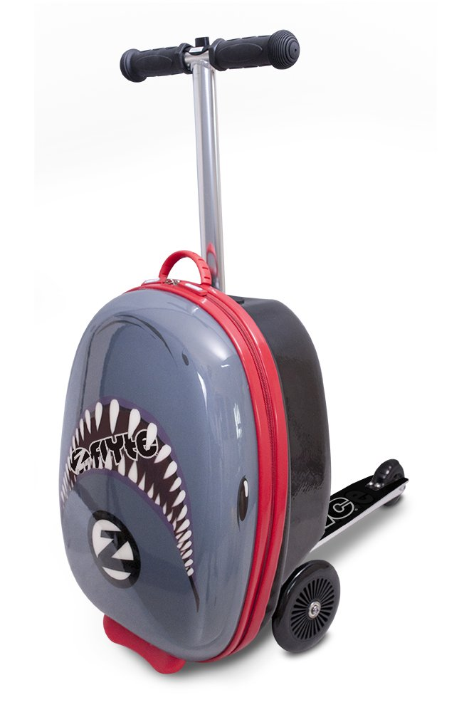 ZincFlyte Flyte ZC03910 Kid's Luggage Scooter 18'' - Snapper The Shark, one Size, Grey