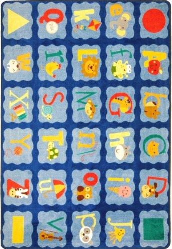 Joy Carpets Kid Essentials Infants & Toddlers Alphabet Blues