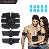 Neson Portable Abdominal Trainer Muscle Toner Six Pack Body Fit Toning Abs Trainer - Smart Fitness Training Battery Operated - Fat Burning Slim Workout Equipment for Men&Women