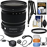 Sigma 24-105mm f/4.0 ART DG OS HSM Zoom Lens with USB Dock + Filter + Sling Strap + Diffusers + Kit for Canon EOS Digital SLR Cameras