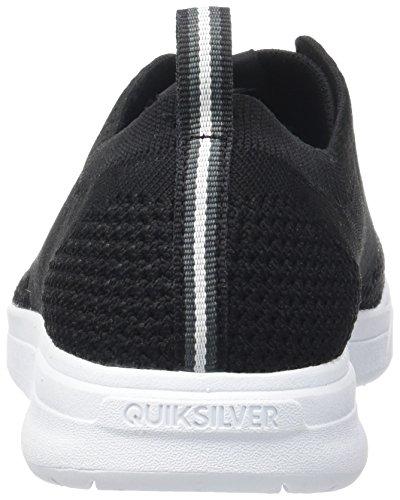 Quiksilver Shorbrkstreknit M, Zapatillas para Hombre Negro (Black / Black / White)