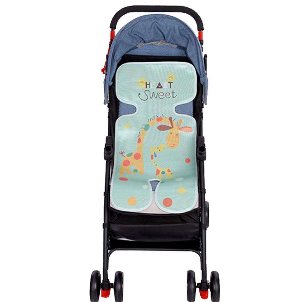 atmungsaktiv Sommer KEBY Kinderwagensitzkissen Sicherheitssitz-Matte f/ür Baby und Kinder f/ür Kinderwagen K/ühlpolster Eisseide