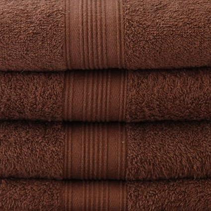 22 piezas Juego de toallas de mano en marrón chocolate, 2 x toallas, 4
