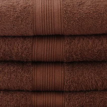2 Piezas Choclate marrón Toalla De Baño Set 620 Gsm