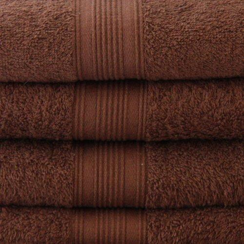 8 piezas Juego de toallas de mano en marrón chocolate, 2 x toallas de ducha, 4 x toallas de mano, 2 x baño (: Amazon.es: Hogar
