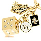 Las Vegas Welcome Sign Dice Keychain Color: Gold