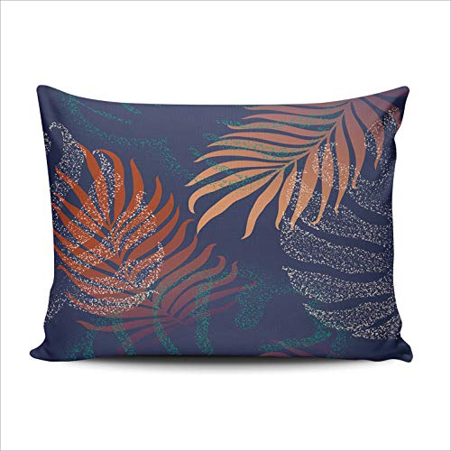 DOUMIFA Beautiful Tropical Jungle Floral with Palm Leaves 12x20 Lumbar Throw Pillow Case Decor Cushion Covers One Sided Printed
