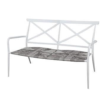 Delamaison Salon de Jardin Aluminium Blanc résine tressée ...