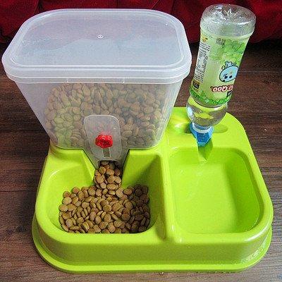 2-en-1-Distributeur-automatique-de-nourritures-croquettes-et-eaux-pour-chiens-et-chatsvert