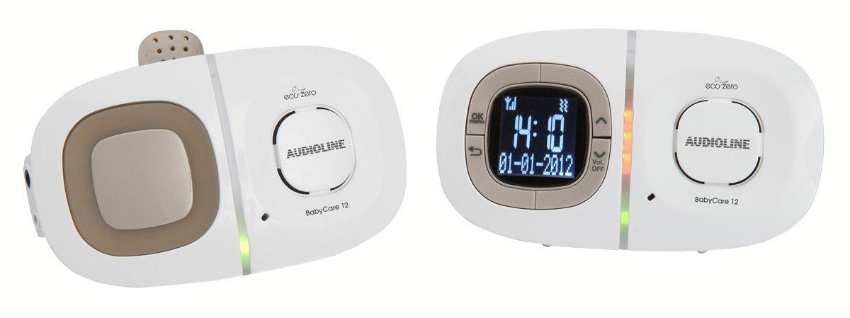 Audioline 901479 Baby Care 12: Babyphone mit digitaler, rauschfreier Funkü bertragung