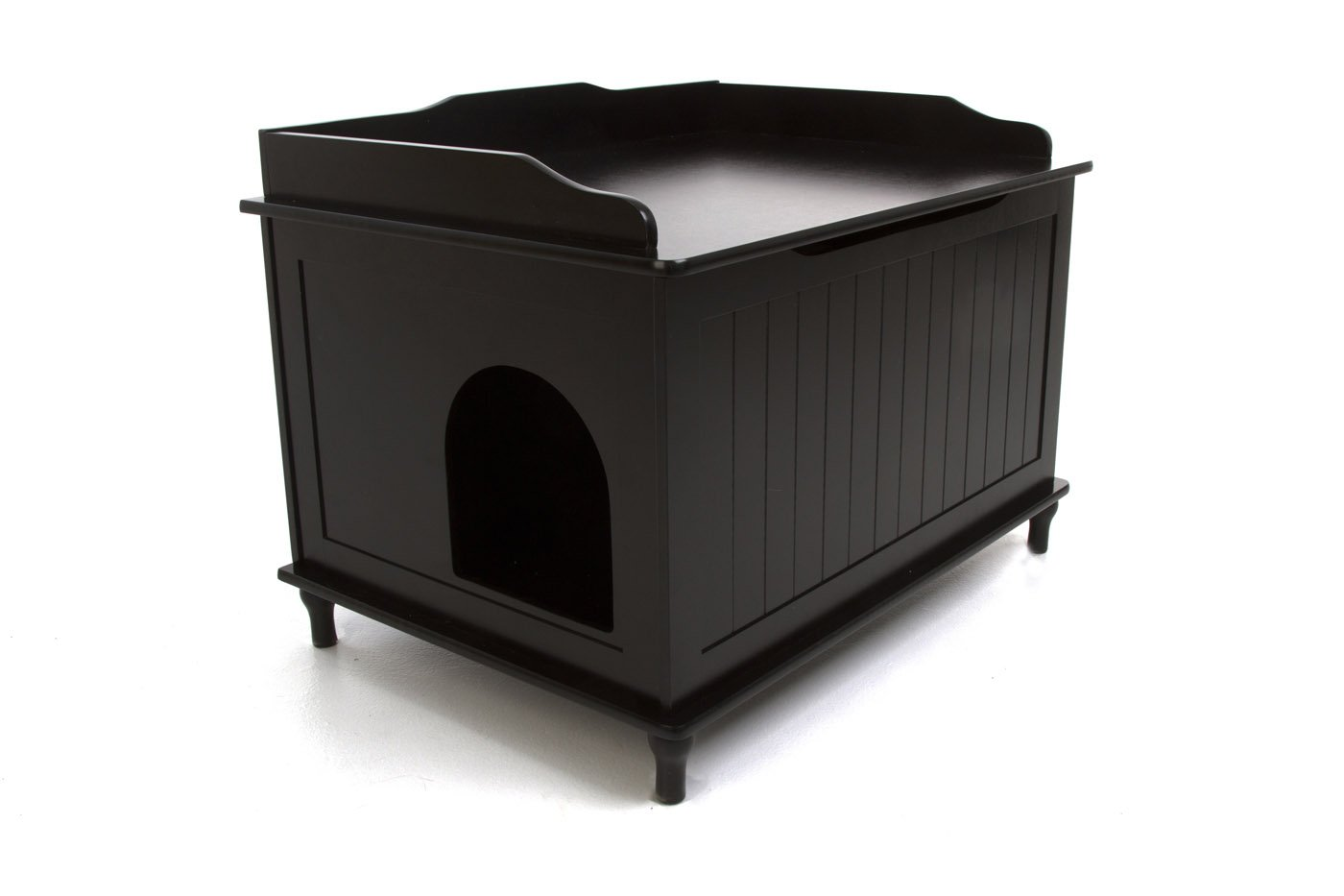 Nora Designer Litter Box Chest in Black by Designer Catbox