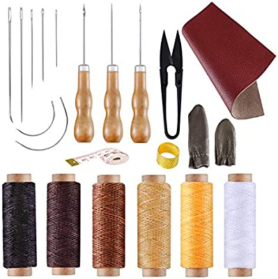 6256d0dc03c0e BUTUZE Convenient Leather Craft Sewing Kit 22 Pieces Leather Sewing Repair  Kit with Simple Method for Beginner-Leather Sewing Tools for Sewing/Leather  Craft ...