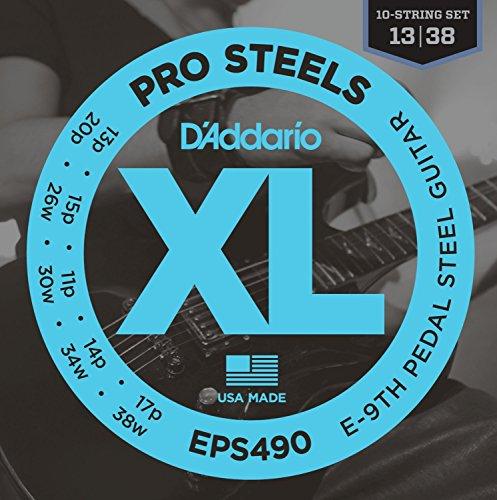 D'Addario EPS490 Pedal Steel Strings, E-9th -
