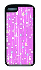 Hot iPhone 5C Customized Unique Print Design Christmas Pink New Fashion Tpu Black iPhone 5C Cases