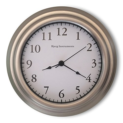 Bjerg Instruments Small 8 Wall Clock (satin nickel)