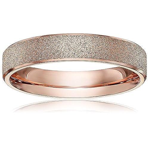 LOVE Beauties Brand New 4mm Womens Titanium Rose Gold Wedding Band Ring 5