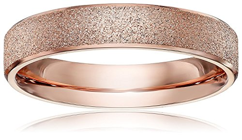Band Rose Ring (LOVE Beauties Brand New 4mm Women's Titanium Rose Gold Wedding Band Ring ,7)