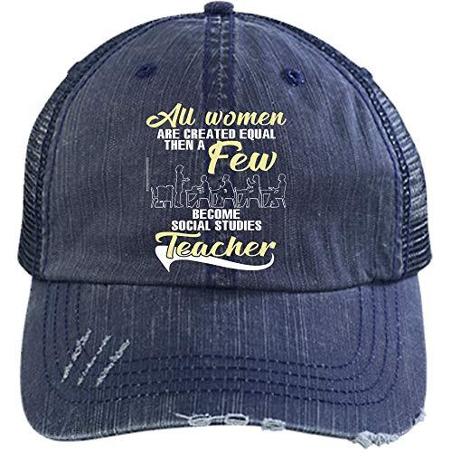 (Social Studies Teacher Hat, I'm A Teacher Trucker Cap (Trucker Cap - Navy))
