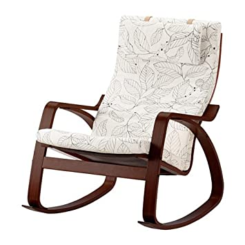 Amazon.com: IKEA mecedora, café medio, vislanda negro/blanco ...