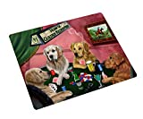 Golden Retriever Large Tempered Cutting Board 4 Dogs Playing Poker