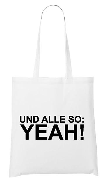 Und Alle So: Yeah! Bag White: : Schuhe & Handtaschen