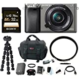 Sony Alpha a6000 Mirrorless Camera w/ 16-50mm Lens & Accessory Bundle - Graphite
